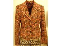 Vintage flower print jacket size 10/12