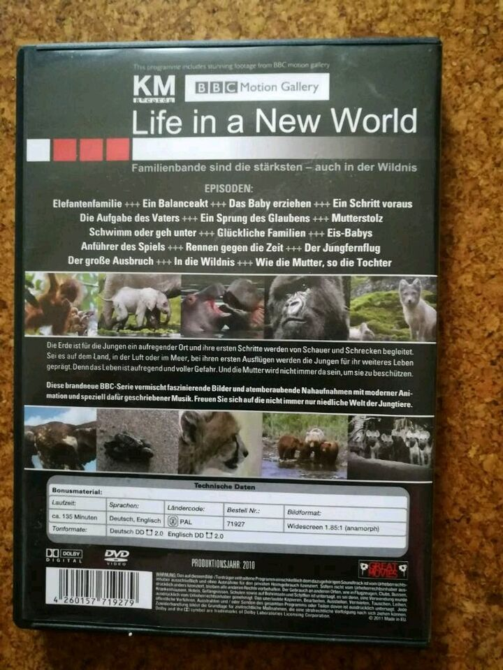 Dvd tiere life in a new world