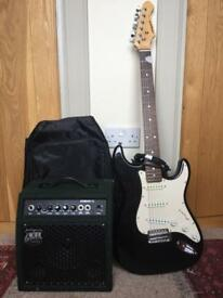Electric guitar, cable and Amp