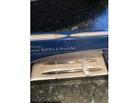 Chrome Ball Pen & pencil set