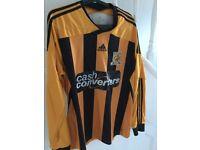Hull long Sleeve Hull City Football Shirt - Adidas - Large to X-Large - Free Postage