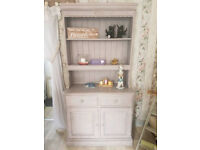 Shabby Chic painted Welsh Dresser in Annie Sloan ' Paloma'