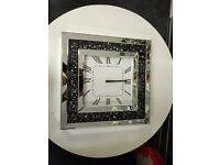 Black crystal clock