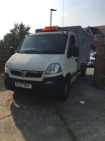 TIPPER Vauxhall movano truck