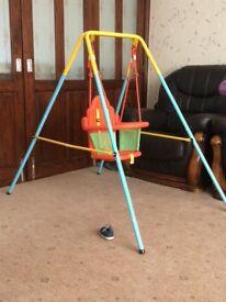 Indoor/outdoor baby swing