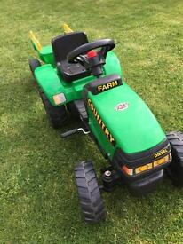 Kids tractor and trailer