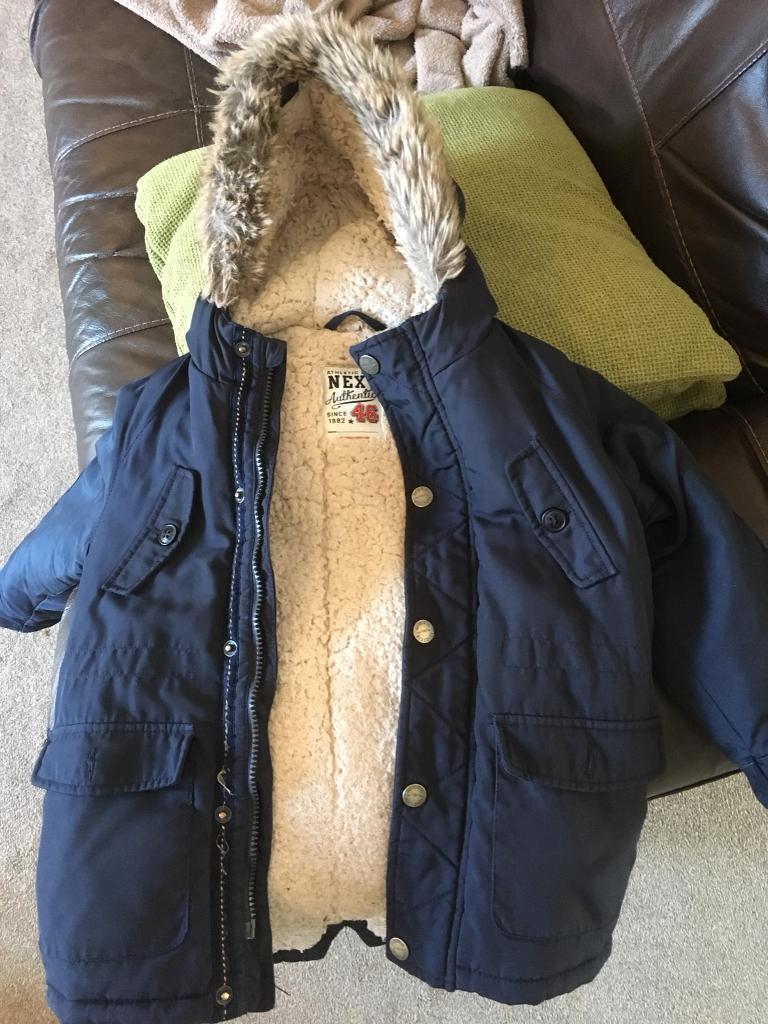 cec25e3dc7b4 Boys navy coat from Next size 4-5 years