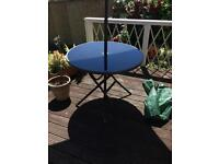 Garden table and 4 x chairs and umbrella