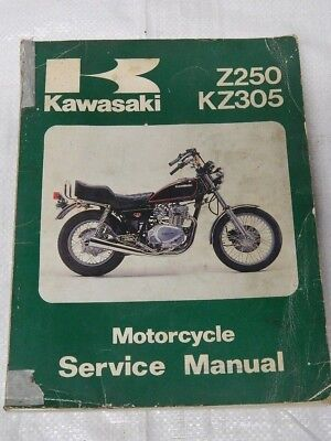 KAWASAKI Z250 KZ305 MOTORCYCLE SERVICE MANUAL REF CS1