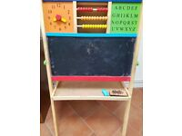 Wooden double sided easel