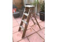 Vintage wooden step ladder