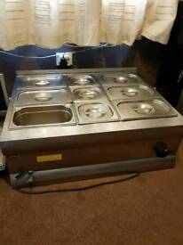 Lincat bain marie with containers