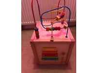 Mothercare wooden activity cube