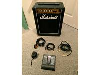Marshall guitar combo 5205 + multieffect + cables