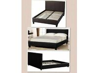 💚💚CHEAPEST PRICE 💚💚BRAND NEW! DOUBLE LEATHER BED FRAME / MATTRESS OPTION