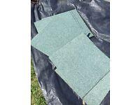 42 Pale Green Carpet tiles ~ Brand new