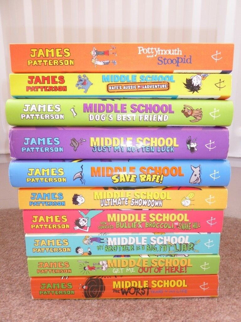 James Patterson Books From The Middle School Series Qty 10 In