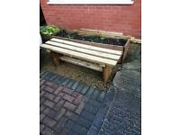 Brand new TIMBER BENCH 1200mm - delivered