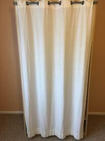 Curtain fronted double wardrobe