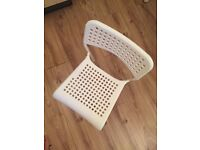 Four (4) Ikea Chairs in White