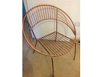Ornate copper metal decorative chair dressing table or garden vintage style