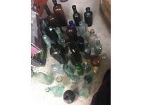 Job lot of old bottles