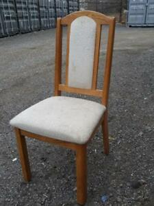Oakville Set of 4 Dining Chairs Heavy Kitchen Solid Wooden Seating Kitchen Light Wood Upholstery