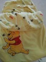 Bunting bag yellow with Winnie the pooh