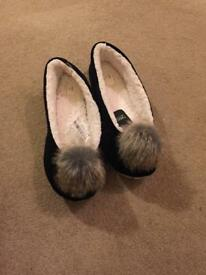 Next Pompom slippers
