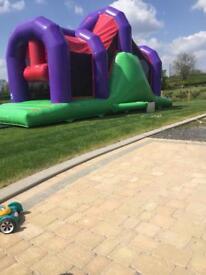 2017 bouncy castle assault course Great business