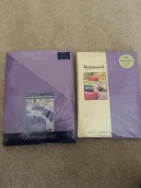 Liliac and purple king size duvet cover.