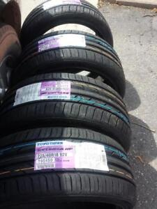 BRAND NEW WITH LABELS ULTRA HIGH PERFORMANCE TOYO EXTENSA  ' V ' RATED  225 / 40 / 18 ALL SEASON TIRE SET OF FOUR