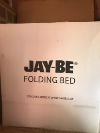 BRAND NEW NEVER USED JAY-BE folding bed including mattress
