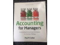 Accounting for Managers, Fourth Edition very good condition