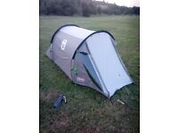 coleman coastlne 2 compact tent used once new condition