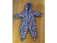 Baby boy Mothercare Snowsuit age 6-9m
