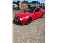 52 PLATE MERCEDES C CLASS COUPE 1.8 PETROL AUTOMATIC £1200