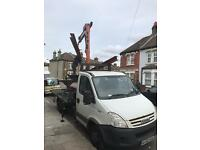 HIAB CRANE HIRE LIFT HAULAGE TRANSPORT DELIVERY MACHINERY PLANT HOT TUB ESSEX LONDON