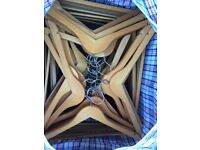 100 wooden clothes hangers great condition for dresses, tops and trousers