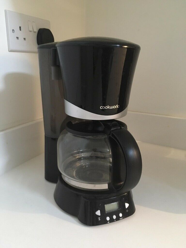 Black Filter Coffee Machines Cookworks Filter Coffee Maker
