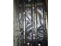 CARP RODS AND BAITRUNNERS