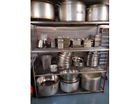 cooking pots and trays , utensils variety of Kitchen