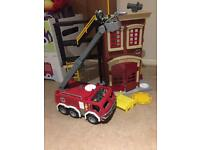 Imaginext fire station and fire engine