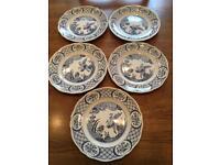 Old Chelsea Furnivals large dinner plates