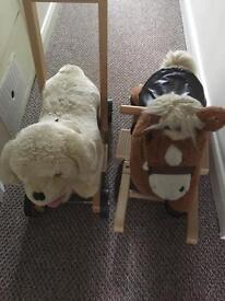Walker and rocking horse