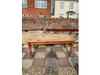 Table and 4 chairs wooden