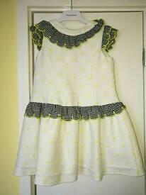 Girls designer foque dress