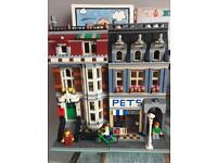 Lego modular pet shop & town house