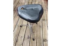Leather pro drum throne, stool
