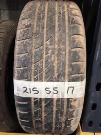 215 55 17 part worn tyre